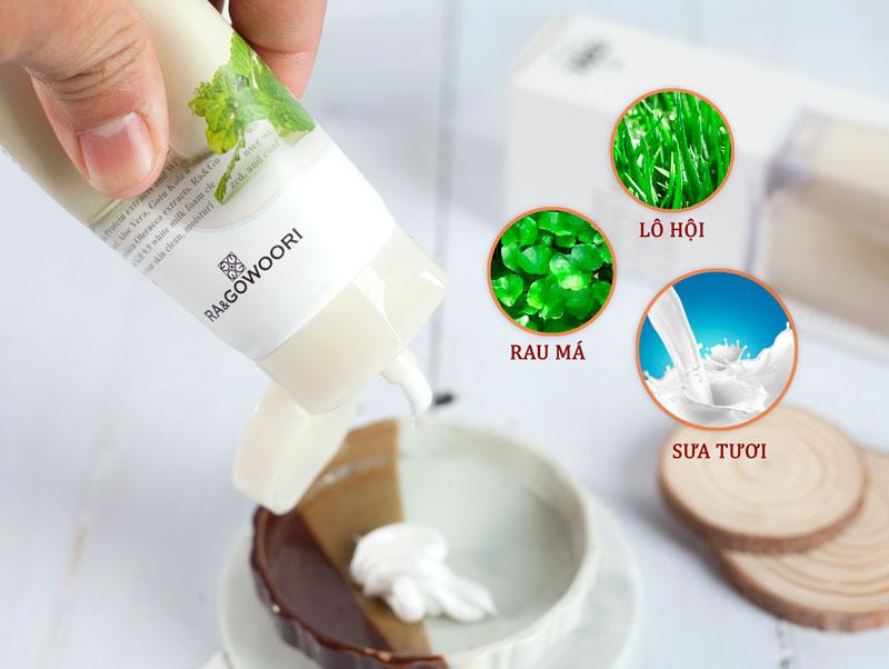 Sữa Rửa Mặt Sữa Tươi Real Kill 9.9 Ra&Gowoori