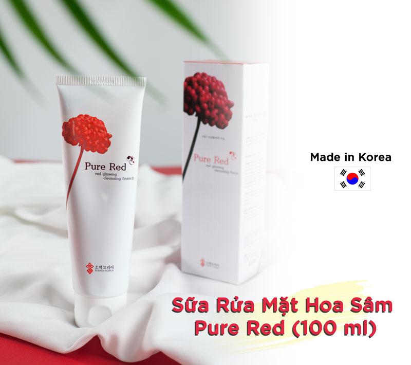 Sữa Rửa Mặt Hoa Sâm Pure Red