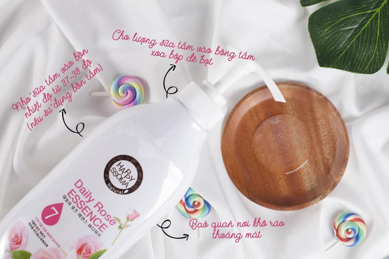 Bộ Sữa Tắm Hương Hoa Hồng Happy Ssoma là sữa tắm được ưu chuộng số 1 tại Hàn Quốc. Sữa tắm mang mùi thơm nhẹ nhàng của hoa thục quỳ ,hoa hồng,oải hương ...